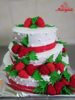 #п150(30) торт с клубникой