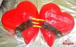 #п150(32) торт для влюбленных 2 сердца