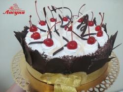 #п150(33) торт с коктейльными вишнями