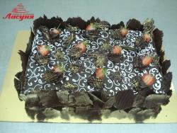 #п150(34) шоколадный торт с клубникой