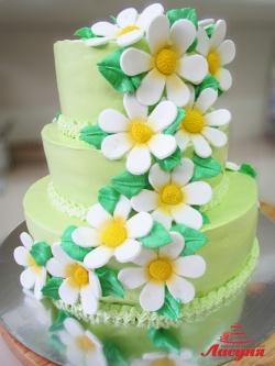 #п150(36) торт с ромашками