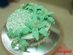 #п150(40) торт с лилиями