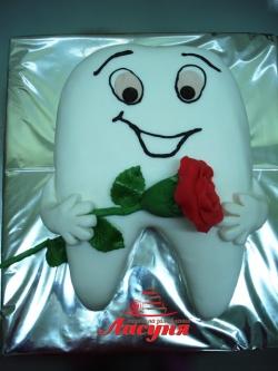 #п150(5) торт для стоматолога зуб