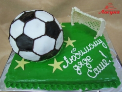 #п160(15) торт футбольный мяч