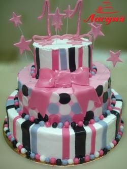 #п160(16) торт на 11 лет для девочки