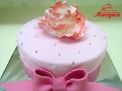 #п160(19) торт для девушки в розовых тонах