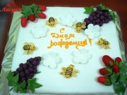 #п160(22) торт на день рождения с пчёлками