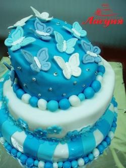 #п160(23) торт с бабочками