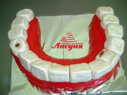 #п160(26) торт для стоматолога зубы