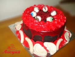 #п160(27) торт на хеллоуин Helloween