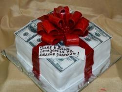 #п160(39) торт пачка долларов для папы