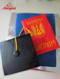 #п160(44) торт для выпускника диплом