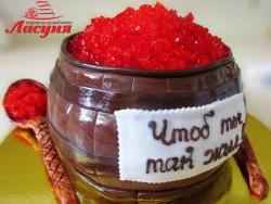 #п160(46) торт бочёнок икры
