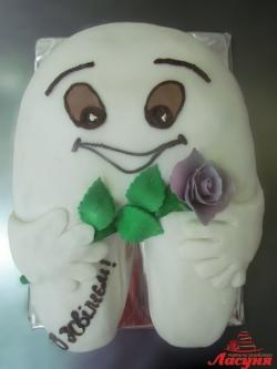 #п160(52) торт зуб для стоматолога