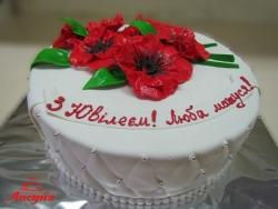 #п160(53) торт для мамы с маками