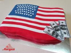 #п160(54) торт флаг США