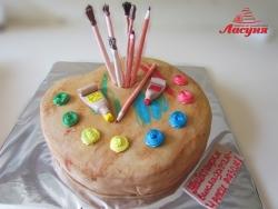 #п160(57) торт для художника палитра