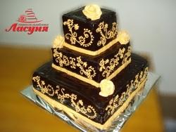 #п160(6) шоколадный торт 3 яруса