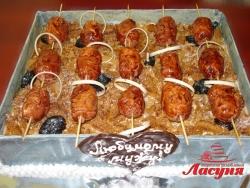 #п160(9) торт шашлык для мужа