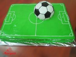 #п180(11) торт футбольное поле и мяч