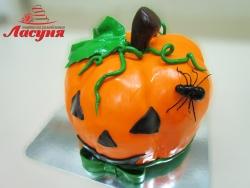 #п180(14) торт тыква на хеллоуин Helloween