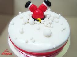 #п180(23) торт на новый год дед мороз