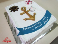 #п180(24) торт в морском стиле