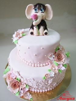 """#п250(20) торт для Мамы Мамонтёнок """"Единственной Маме на свете!"""""""