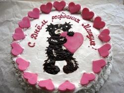 #п95(25) торт мишка с сердечком