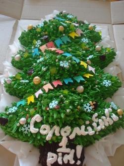 #п95(33) торт ёлка на Новый Год