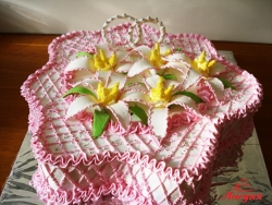 #с135 (11) Свадебный торт с кольцами