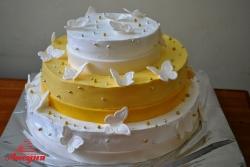 #с135 (12) Свадебный торт с бабочками