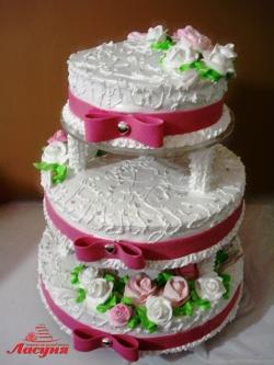 #с135 (16) Свадебный торт на подставке