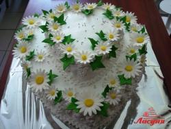 #с135 (21) Свадебный торт с ромашками