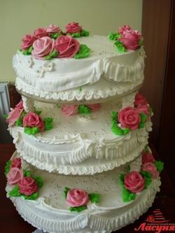 #с135 (24) Свадебный торт 3 яруса