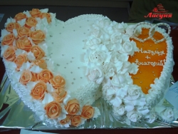 #с135 (26) Свадебный торт 2 сердца