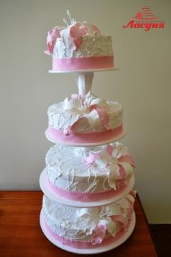 #с135 (29) Свадебный торт с орхидеями