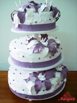 #с135 (40) Свадебный торт с орхидеями