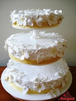 #с135 (41) свадебный торт 3 яруса