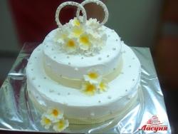 #с135 (43) Свадебный торт с кольцами