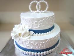 #с135 (46) Свадебный торт с кольцами