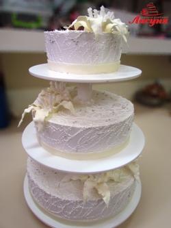 #с135 (47) Свадебный торт белый