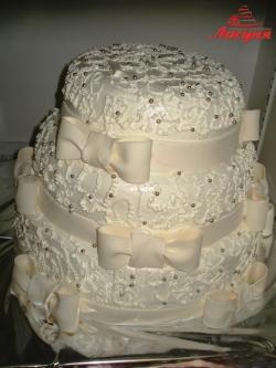 #с135 (49) Свадебный торт белый