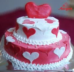 #с135 (9) Свадебный торт сердца