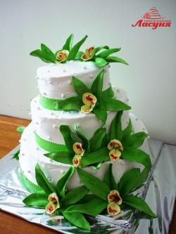 #с180 (11) свадебный торт с орхидеями