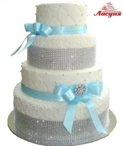 #с180 (17) свадебной торт со стразами