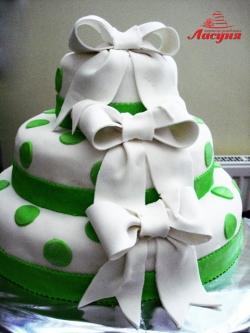 #с180 (20) свадебный торт с бантами