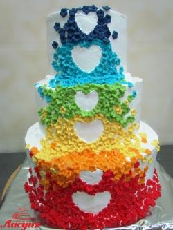 #с180 (21) Свадебный торт радуга