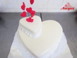 #с180 (24) Свадебный торт сердца