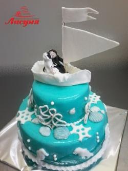 #с180 (3) Свадебный торт кораблик